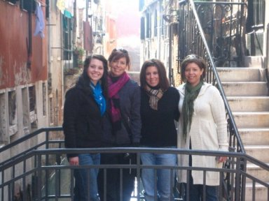 Me, Leah, Keri & Mom in Venice